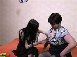 OldNanny mature grandmother nymphs and teenage lesbian
