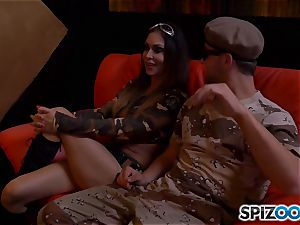 Jessica Jaymes and Nina Elle get off with army dude shaft
