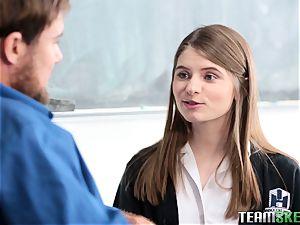 mischievous college girl Alice March fuckig her tutor