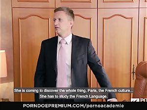 pornography ACADEMIE Lana Rhoades luvs boinking French salami