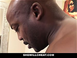 SheWillCheat - cheating wife smashes bbc in bathroom