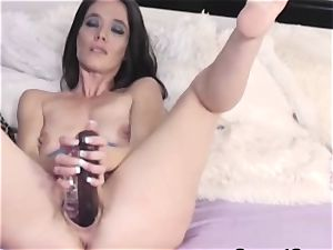 horny stunner likes to play her two fuck stick