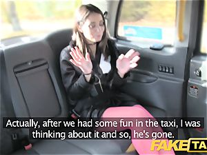 fake cab Italian hottie in stocking assfuck fuck-a-thon