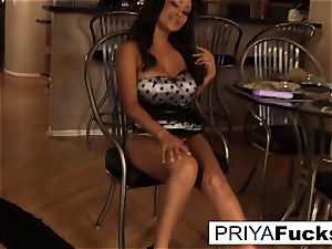 Priya makes herself all super hot and bothered