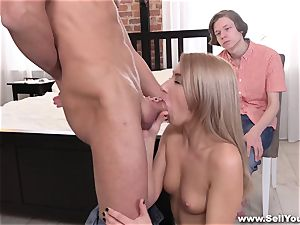 Sell Your girlfriend - bf observing gf plow for cash