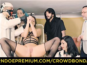 CROWD restrain bondage subjugated Amirah Adara first-ever time domination & submission