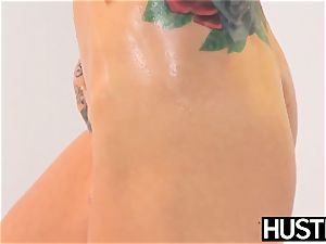 Ultimate light-haired Sarah Jessie submits to giant bbc
