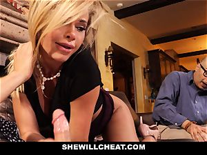 hotwife hubby watches Wifes pussy Get demolished