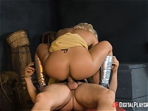 Heroine Phoenix Marie bashed by strung up inmortal god