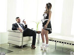 wonderful maid ravaging her boss