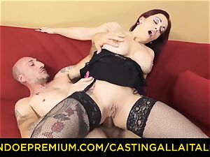 casting ALLA ITALIANA - huge-chested rookie goes for anal romp