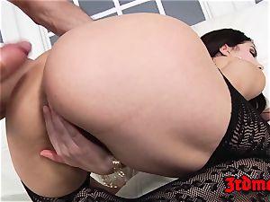 dark haired Valentina Nappi rectally smashed