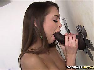 Riley Reid cheats on her beau with big black cock - Gloryhole