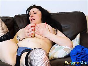 EuropeMaturE huge-titted femmes handsome Showoff Compilation
