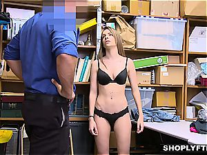 coerced to bang a fuckpole by the law's rock hard palm