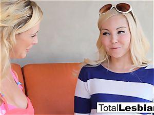 astounding blondie honies Aaliyah and Cherie