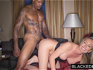 Brett Rossi has a spontaneous interracial escapade in a motel suite