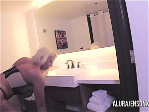 meaty knocker ash-blonde Alura Jenson pummeling a jumpy client