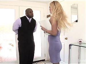 chesty real estate agent Shyla takes dark-hued stiffy