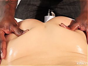Kate England gets a thorough groping