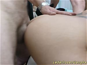 cougar and emo nubile in super-naughty gang-fuck fuckfest