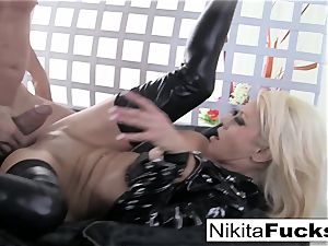 huge-titted Nikita porks a yam-sized cock