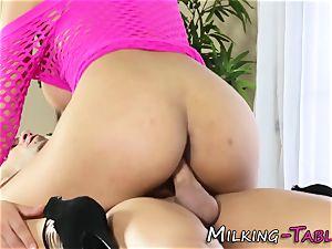 big-titted masseur rides salami