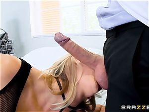 medic slamming penis deep into Brett Rossi