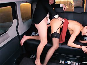plumbed IN TRAFFIC - british Tina Kay pulverized in the car