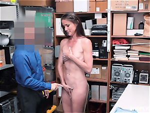 Sofie Marie unloaded balls deep by kinky mall cop