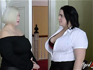 AgedLovE busty motel Maid Lacey Starr three-way