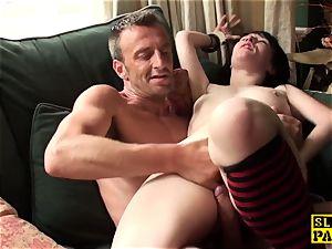 Real brit gimp super-bitch predominated with suck