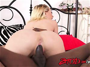 Kagney Linn Karter takes a huge ebony meatpipe