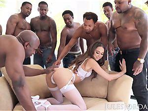 Jules Jordan - Riley Reid bi-racial gang-bang