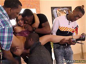 rectal honey Natasha ultra-cute Takes big black cock dp