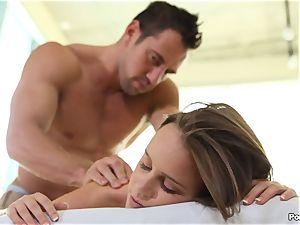 Alexis Adams fucked on the massage table