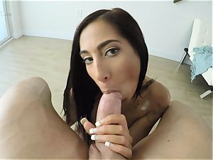 deepthroating brown-haired Stacy Jay coochie beaten point of view fashion
