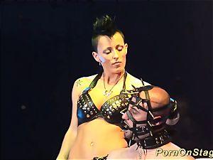 extraordinary fetish porno on public stage