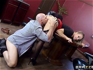 super-steamy manager Nicole Aniston taking a giant stiffy in the office