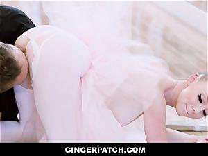 GingerPatch - ginger-haired Ballerina riding Judges immense manhood