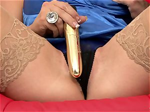 Nicky Angel play faux-cock with her girlfriend