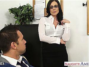 mischievous Kendra humped on her desk