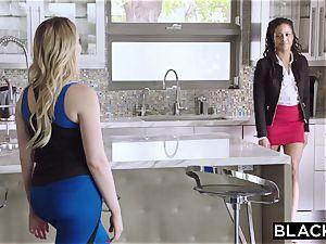 BLACKED ebony gal introduces milky female to big black cock