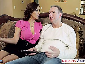 black-haired bombshell Francesca Le takes his rock-hard fuck-stick deep inwards her