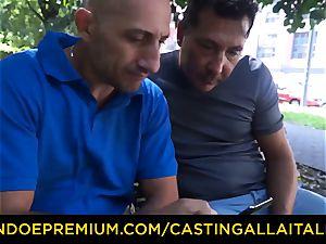 audition ALLA ITALIANA - courageous minx practices total double penetration