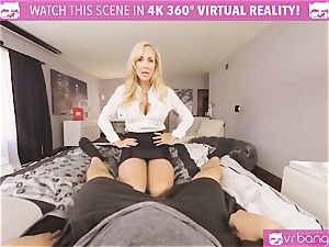 VRBangers.com-MILF is inserting a vibrator in her fuckbox