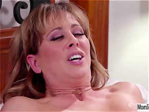 Cherie DeVille and Scarlett Sage bedtime fucky-fucky and climax