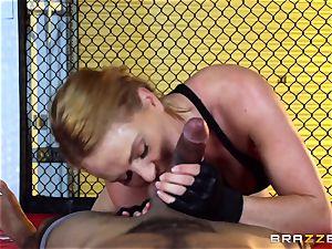 Krissy Lynn gets interracial plowing in the ring