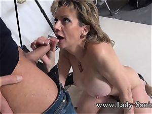 cameraman Face boinks Mature woman Sonia