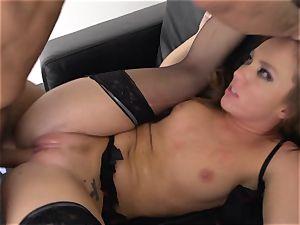 Maddy OReilly stuffed full in her underwear
